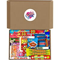 Retro Sweets Hamper Gift Box from Luv Sweets. Perfect Gift for Him & Her. Packed with Childhood Sweetshop Classics…