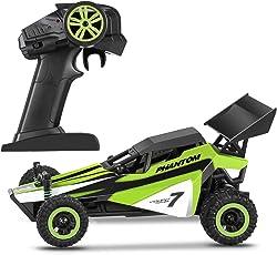 Profun RC Auto 1:32 Stoßfester Schneller Rennwagen Auto 2WD 2.4Ghz Wiederaufladbare Batterien Enthalten (Grün)