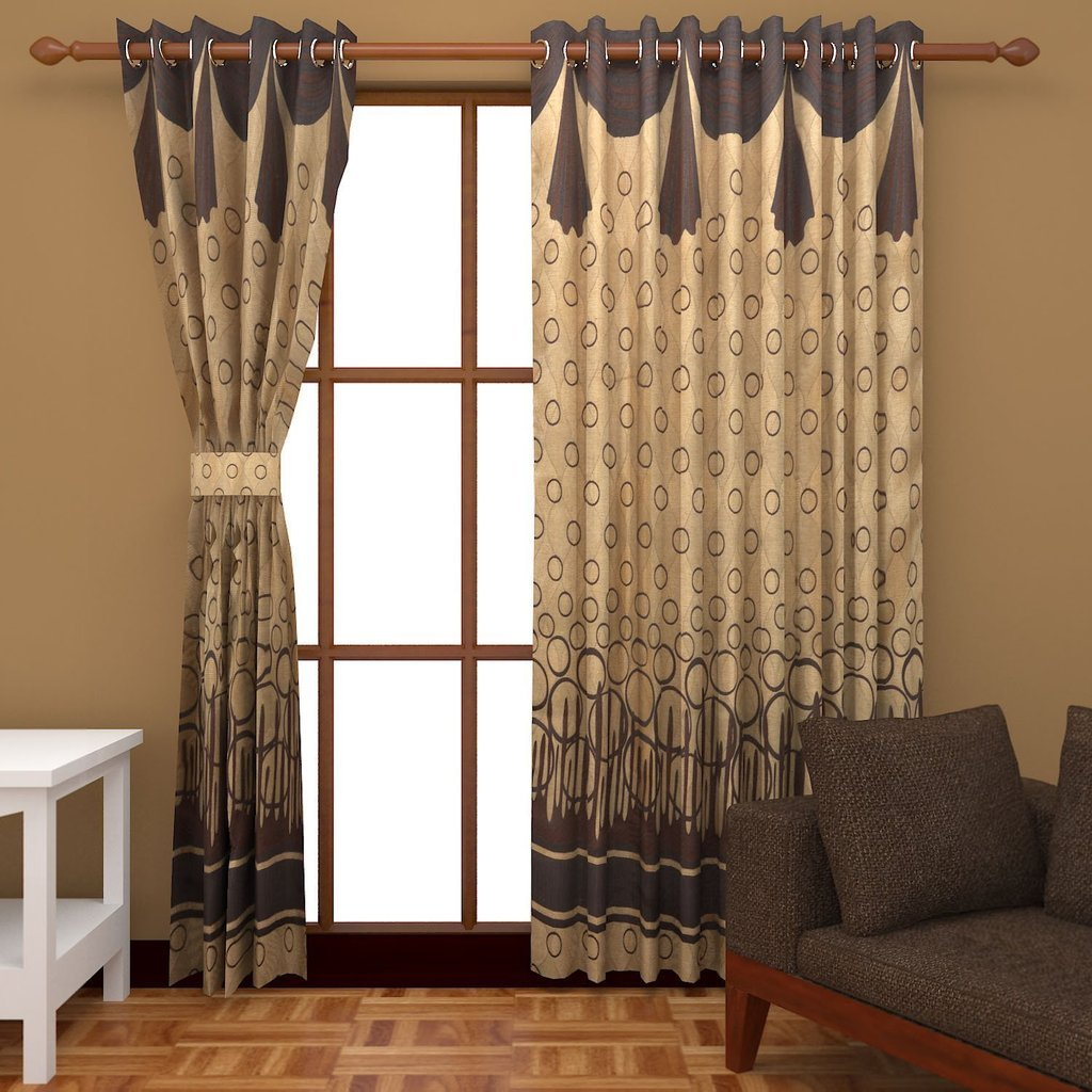 Design Door Curtains buy super india jacquard 2 piece cotton blend door curtain set 7ft gold online at low prices in amazon in