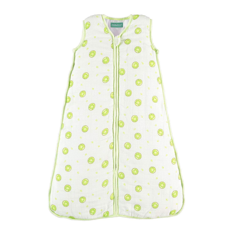 molis&co. Saco de Dormir para bebé. Ideal para Verano. 0.5 TOG. Súper Suave y Ligero. Muselina Premium.