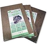 Vulcano Plaques de glu en Bois Anti Souris Anti Rat Lot de 3x2 (Soit 6 pièces)