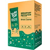 Yogabar Breakfast Protein-Bar Almond Coconut - Wholegrain Low Fat Snacks with Millets and Oats, High in Protein (8g) and…