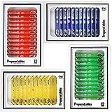Diapositives préparées au Microscope pour Enfants, Bysameyee en Plastique 48pcs Animaux Insectes Plantes Fleurs…