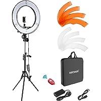 Neewer Caméra Photo Vidéo Eclairage Kit : 48cm Extérieur 55W 5500K Réglable LED Lumière Anneau, Trépied d'Eclairage, Récepteur Bluetooth pour Smartphone, Youtube, TikTok Self-portrait Vidéo Tournage