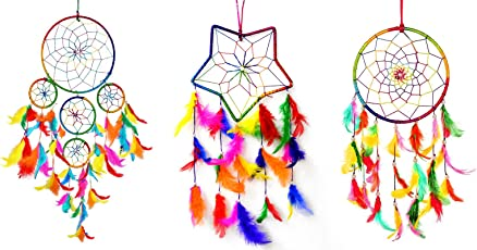 Dream Catcher Wall Hanging for Positive Energy and Protections - Pack of Combo 1+1+1+ pc