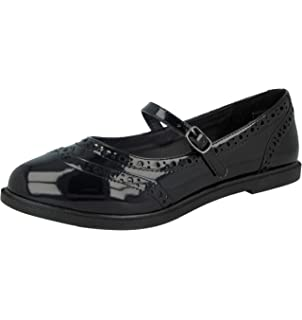 NEW GIRLS CHILDRENS LOW HEEL MARY JANE LOAFERS PUMPS DOLLY SCHOOL SHOES SIZE