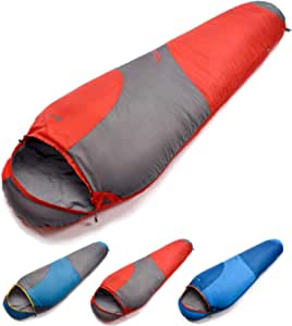 Sleeping Bag For Kids Camping Gear Travel Sleep Essential Insulated Warm Lightweight Traveling Hiking Indoor Outdoor All Season Spring Summer Fall TIMBER Blue