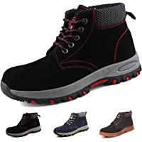 Gainsera Safety Boots Men Women Lightweight Work Boots with Steel Toe Cap Breathable Kevlar Safety Shoes Trainers…