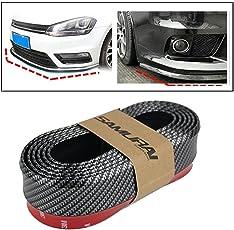 SAMURAI Carbon Fiber Car Body Kit Bumper Lip Side Skirt Rubber Edge Decorative Protector, MP-23
