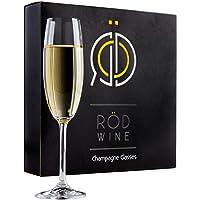 RÖD WINE Calici Champagne - Bicchieri Spumante in Cristallo Infrangibili Senza Piombo - Flute Prosecco - Ideali per…