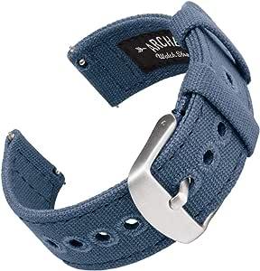 Archer Watch Straps | Cinturini Ricambio da Polso a Sgancio Rapido in Tela per Orologi e Smartwatch, Uomini e Donne | Vari Colori, 18mm, 20mm, 22mm