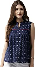 Amayra Women's Cotton A-Line Printed Top