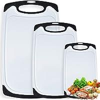 MOOING Tagliere Rettangolare, Taglieri Cucina Set in Plastica con Scanalatura, Materiale PP per Alimenti,Lavabili in…