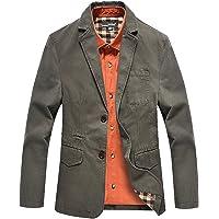 SZAWSL Mens Blazer Business Suit Casual Fashion Cotton Blazer Coat Jackets