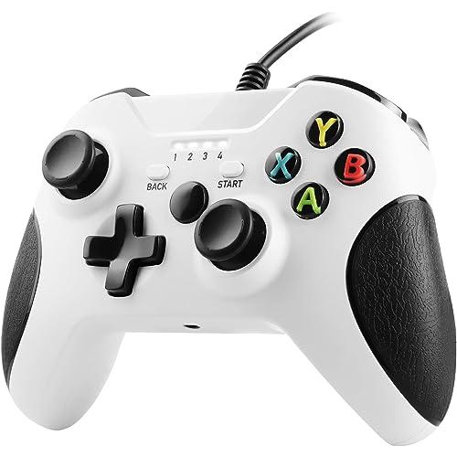 Zexrow Xbox One Game Controller, USB Cablato Gamepad, Design Doppia Vibrazione con Ergonomico, Compatibile con Xbox One/X/S/Elite/Windows PC 7/8/10