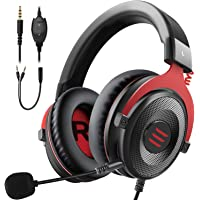 EKSA Gaming Headset PC Headset Surround Sound Headset with Soft Memory Earmuffs for PS4 PS5 Detachable Noise Cancelling…