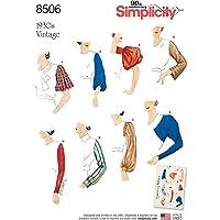 Simplicity US8506A 8506 A Patrons de Manches pour Femme Style Vintage 38-40-42-46-48-50, Papier, Blanc, 22 x 15 x 1 cm