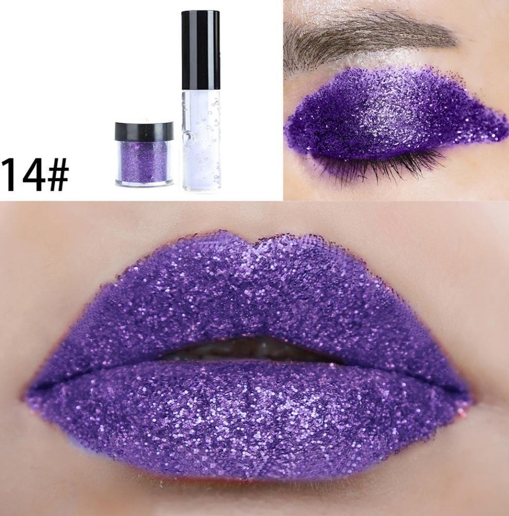 Prevently nuovo arrivo creative Fashion party makeup 20color Shimmer glitter lip Gloss palette polv