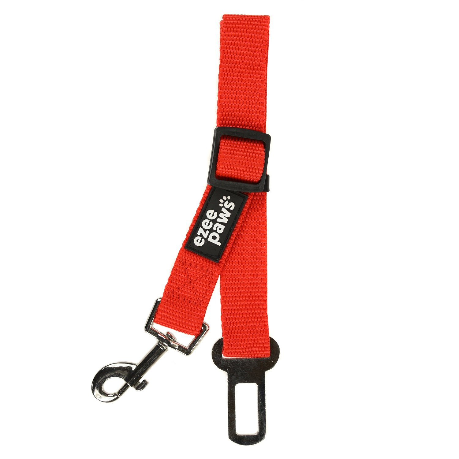 Black-Red 2-Pack Ezee Paws Dog Seat Belt Safety Harness Lead for Car Vehicle Adjustable