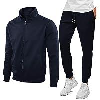 N+1 Tuta Uomo Completa Estiva Casual Giacca con Cerniera Pantaloni M L XL XXL XXXL