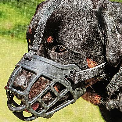 Dog Muzzle,Soft Basket Silicone Muzzles for Dog, Best to Prevent Biting, Chewing and Barking, Allows Drinking and Panting, Used with Collar from Barkless