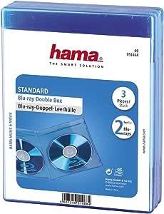 Hama Blu Ray Doppelhülle Auch Passend Für Cds Und Dvds Mit Folie Zum Einstecken Des Covers