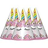 PARTY PROPZ Unicorn Cap Set of 10/ Unicorn Party Supplies/ Unicorn Party Decoration