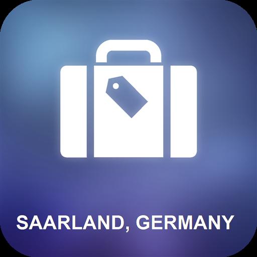 Saarland, Deutschland Karte