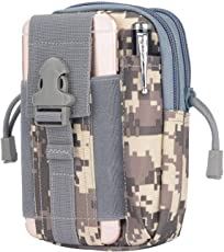 Kraptick Multi-Purpose Water Resistant Poly Tool Holder EDC Pouch Camo Bag Military Nylon Utility Tactical Waist Pack Camping Hiking Pouch