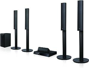 LG LHA755 5.1 3D Blu-Ray Heimkinosystem (1000 Watt, Smart TV, DLNA, Bluetooth, 1080p Upscaling) schwarz