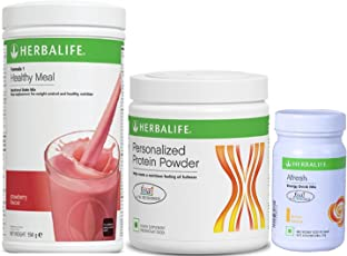 Herbalife F1 Strawberry Shake,500g, F3 Protein Powder, 200g and Afresh Lemon, 50g