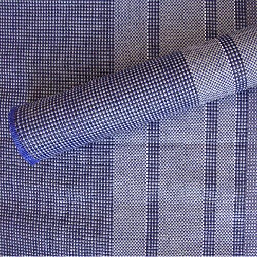 Vorzeltteppich Campingteppich 250x250cm, waschbar und schimmelfrei. Zeltteppich wetterbeständig. Vorzeltboden, Spielteppich. Farbbeständig u. nicht entflammbar. Outdoorteppich Schutz vor Schmutz, Blau