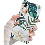 Surakey Coque pour Huawei P20 Coque Fleur Feuilles Motif Coque Silicone Gel TPU Case Cover Housse Étui de Protection…