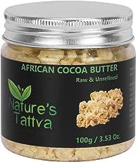 Nature's Tattva Raw Organic Unprocessed and Unrefined Cocoa Butter, 100g