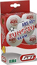 GKI KUNG-FU ABS Plastic 40+ Table Tennis Ball, Pack of 12 (White)