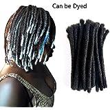 Beshinnaaul 100% cheveux humains dreadlocks extension faite à la main Locs Lo8loc91025Grande taille (0.8cm de diamètre) 20,3cm 20brins/Lot Naturel Noir # 1b