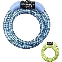 MASTER LOCK Cable Antivol Vélo [1,2 m Câble] [Combinaison] [Extérieur] [Couleur Aléatoire] 8143EURDPROCOL - Idéal pour…