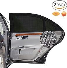 """Alintor 2er-Pack Auto Sonnenschutz, UV Schutz Sonnenrollo für Kinder Baby Erwachsene Haustiere, Tragbare Auto Sonnenschutzrollos, 40""""x20"""" für Die Meisten Auto"""