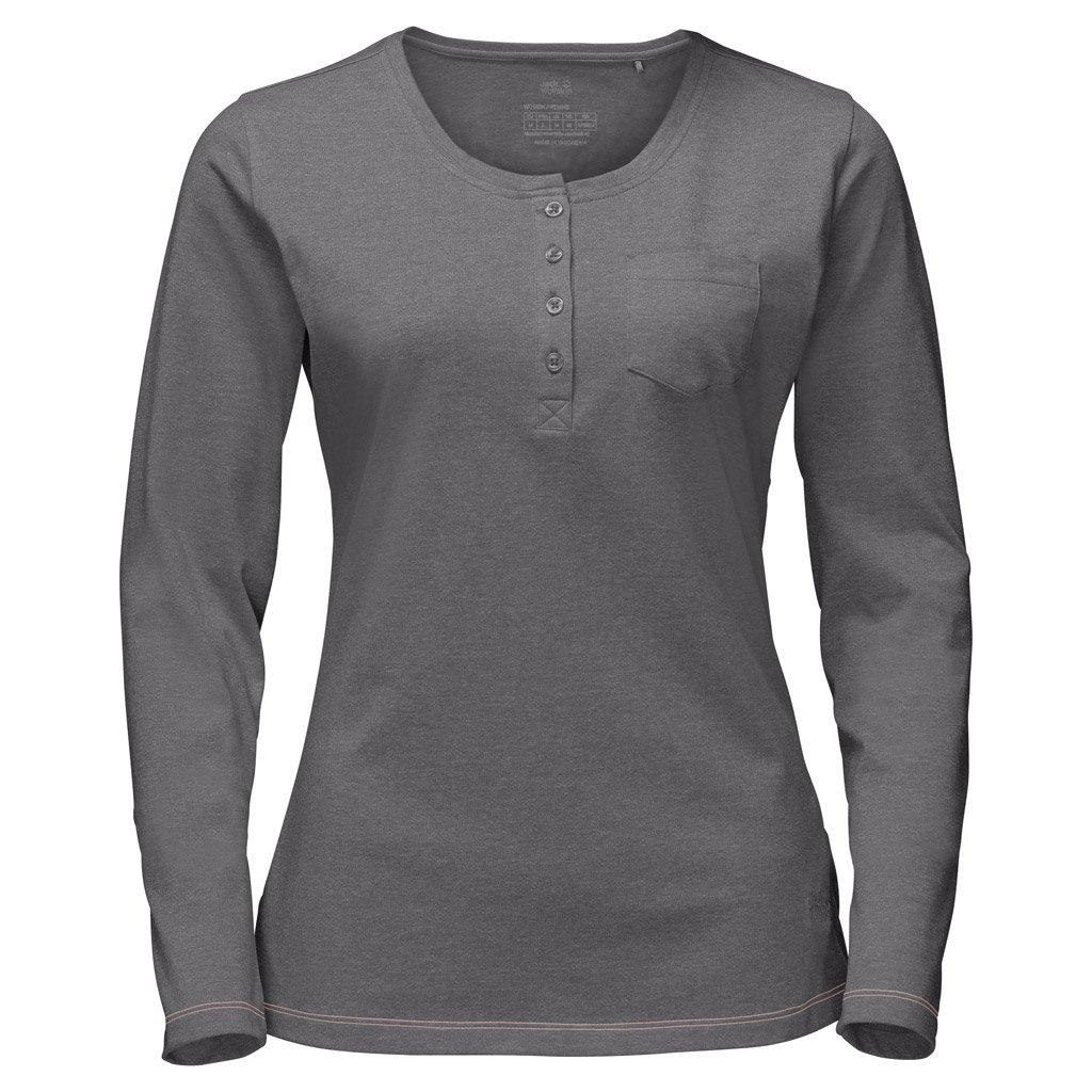 Jack Wolfskin–T-shirt a manica lunga da donna Essential, donna, Tarmac Grey