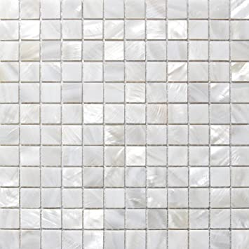 Mother of Pearl Mosaic Tiles River Bed Nature Pearl Shell Mosaic Pure White  Square Shell Tiles 20MM  Amazon co uk  Kitchen   Home. Mother of Pearl Mosaic Tiles River Bed Nature Pearl Shell Mosaic