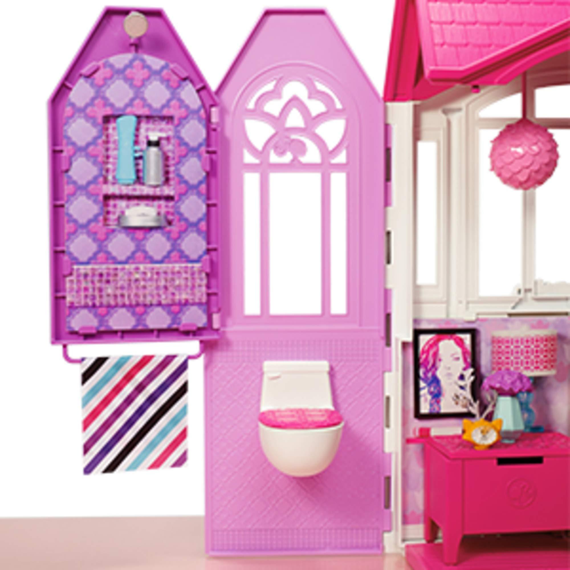Barbie- Casa Vacanze Glam, Richiudibile, con Cucina, Camera ...