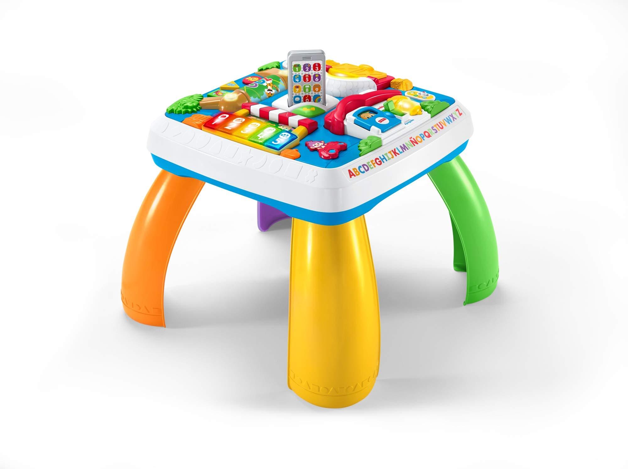 Fisher-Price – Mesa multiaprendizaje bilingüe -juguetes educativos – (Mattel DRH34)