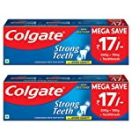 Colgate Strong Teeth Anticavity Toothpaste with Amino Shakti - 300gm (Pack of 2)