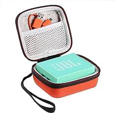 Shucase Hart Reise Tasche für JBL Go Ultra Wireless Bluetooth Lautsprecher(orange)