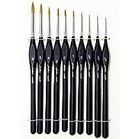 Lot de 6 pinceaux d'artiste Pour peinture acrylique à l'huile gouache et aquarelle Long manche en bois