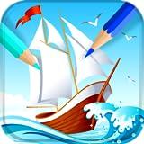 Libro de colorear de nave