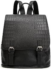 Beylasita Damen Tasche Set PU Daypack Rucksack Backpack für Reise Outdoor Sport Schwarz