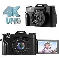 LongOu Digitalkamera Fotoapparat Figitalkamera 4K 48.0MP Ultra HD Kompaktkamera 16-facher…