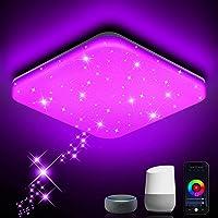 NIXIUKOL LED Deckenleuchte Dimmbar 24W RGB, Smart WiFi Deckenlampe mit APP-Steuerung, Kompatibel mit Alexa Google Home…