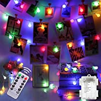 Colorful Battery Fairy Lights - 5M 50led Blub Fairy Lights with 8 Lighting Modes Waterproof Fairy String Light for…